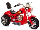 Ride On Bike 6V Electric Hot Rod Chopper Style 3 Wheeled Motorcycle in Red